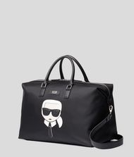 KARL LAGERFELD K/Ikonik Nylon and Leather Weekender 9_f