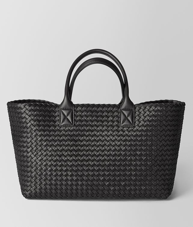 BOTTEGA VENETA NERO INTRECCIATO NAPPA CABAT Tote Bag Woman fp