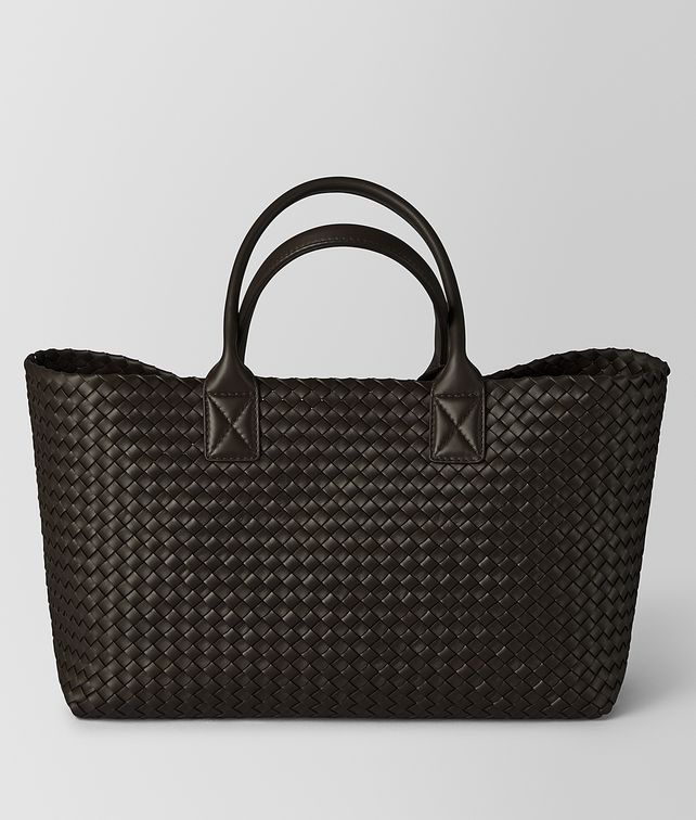 BOTTEGA VENETA ESPRESSO LAMBSKIN MEDIUM CABAT Tote Bag Woman fp