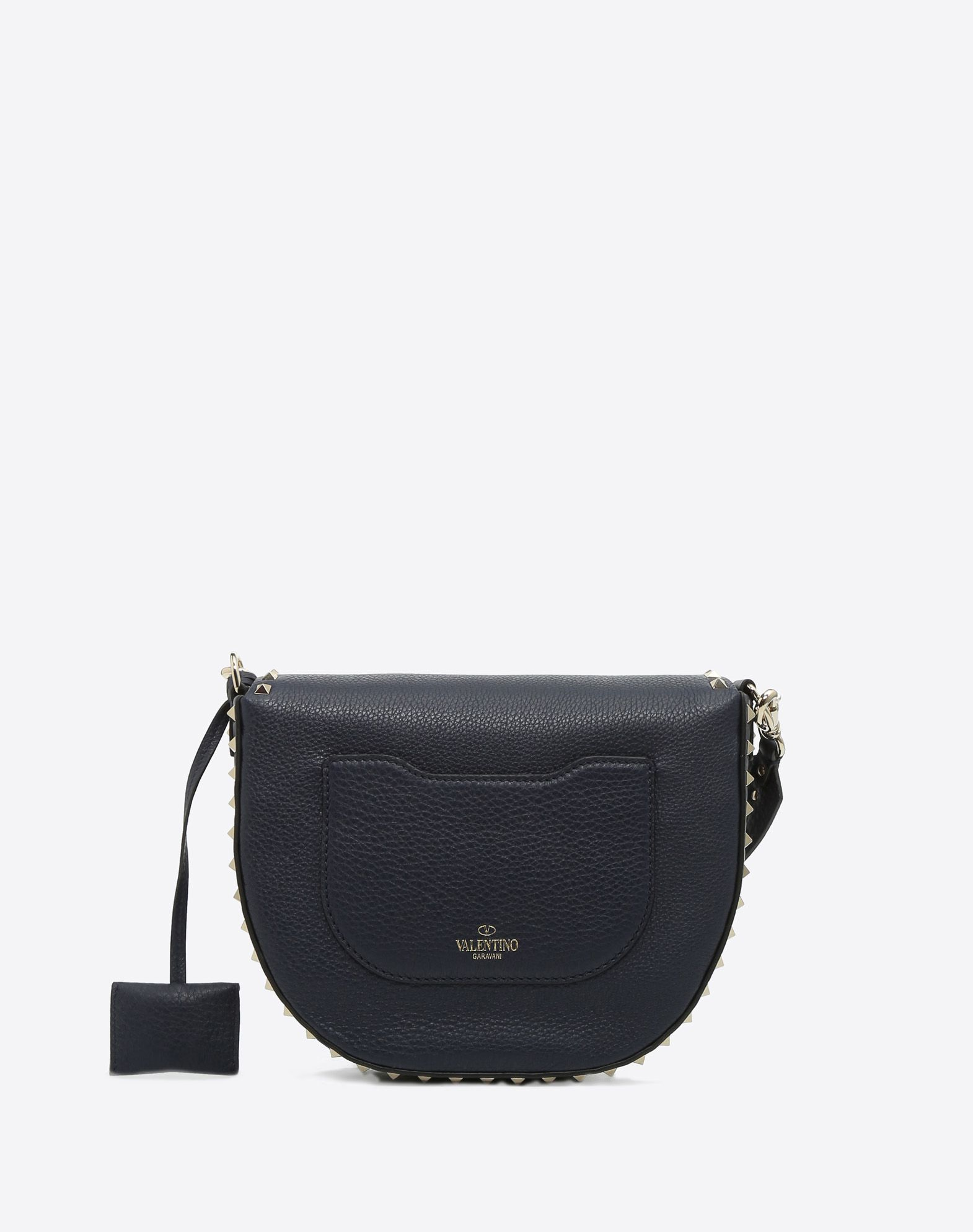 VALENTINO Button closing Textured leather Logo Solid colour Magnetic closure External pocket Internal pockets Removable shoulder strap  45382337tj