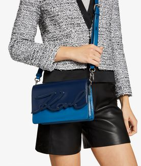 KARL LAGERFELD K/SIGNATURE GLAZE SHOULDER BAG