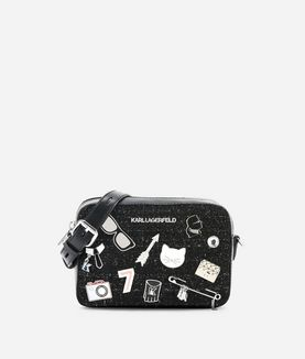 KARL LAGERFELD K/KLASSIK PINS CAMERA BAG