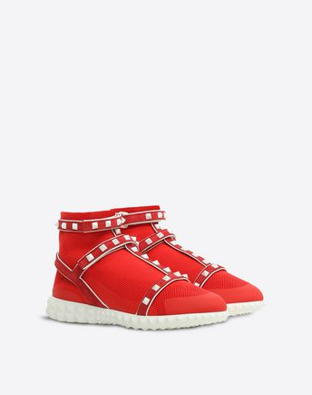 VALENTINO GARAVANI HIGH-TOP SNEAKER D Embroidered high-top Sneaker with cut-out detail r