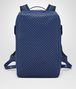 BOTTEGA VENETA COBALT BLUE CALF GRID BRICK BACKPACK Messenger Bag Man fp