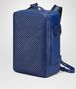 BOTTEGA VENETA COBALT BLUE CALF GRID BRICK BACKPACK Messenger Bag Man rp