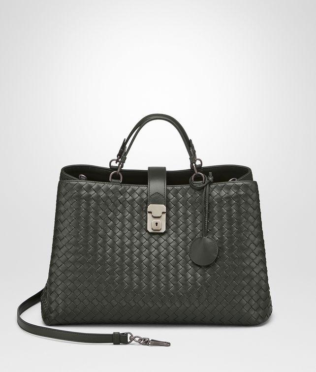BOTTEGA VENETA DARK MOSS INTRECCIATO NAPPA MILANO '17 BAG Tote Bag Woman fp