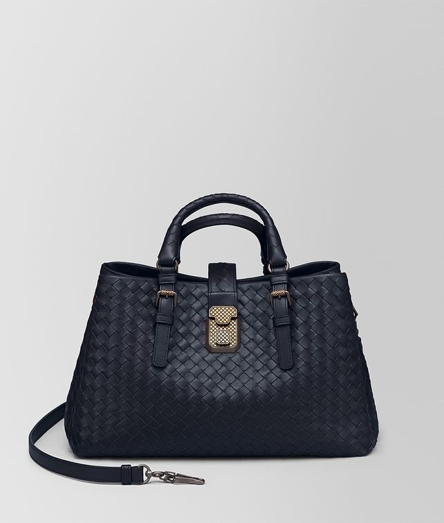 BOTTEGA VENETA PRUSSE INTRECCIATO CALF SMALL ROMA BAG Top Handle Bag       pickupInStoreShipping info 8d078e83c33c9