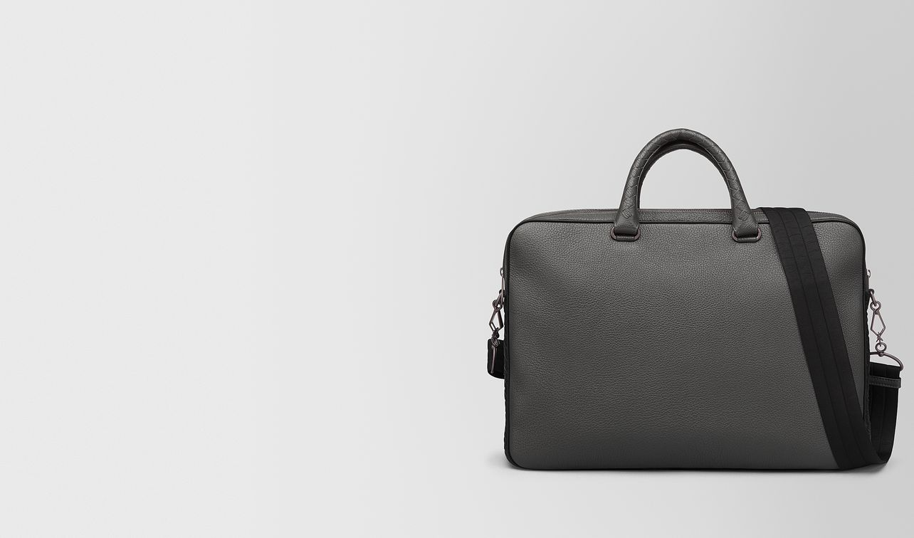 light grey cervo briefcase landing