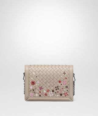 MINK INTRECCIATO MEADOW FLOWER MINI MONTEBELLO BAG