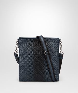 DENIM INTRECCIATO NAPPA MESSENGER BAG