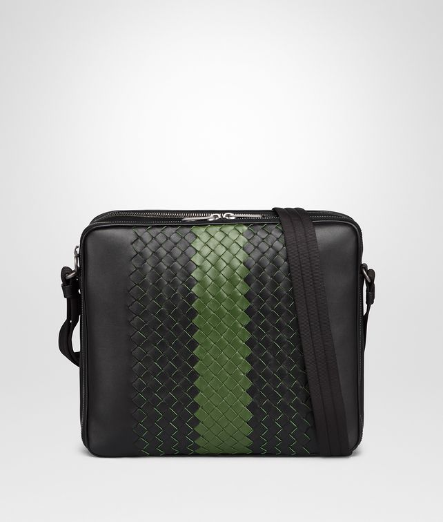 BOTTEGA VENETA NERO INTRECCIATO NAPPA MESSENGER BAG Messenger Bag [*** pickupInStoreShippingNotGuaranteed_info ***] fp