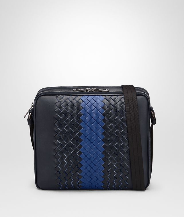BOTTEGA VENETA TOURMALINE INTRECCIATO NAPPA MESSENGER BAG Messenger Bag [*** pickupInStoreShippingNotGuaranteed_info ***] fp