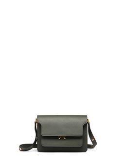 Marni TRUNK bag in green saffiano leather Woman