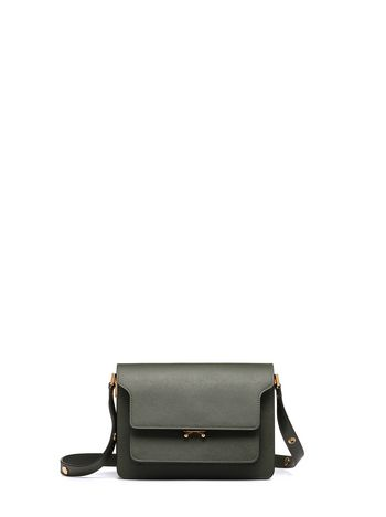 Marni TRUNK bag in Saffiano leather green Woman