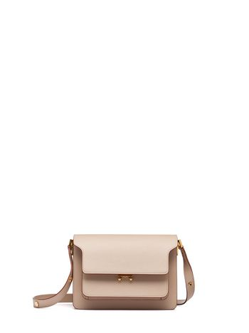 Marni TRUNK bag in Saffiano leather beige Woman