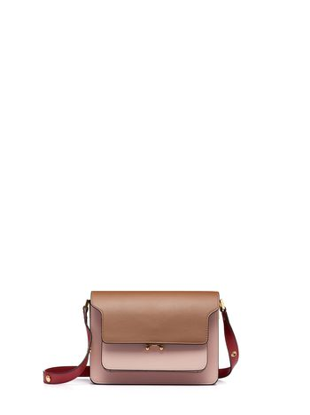 Marni Tri-coloured TRUNK bag in leather brown Woman