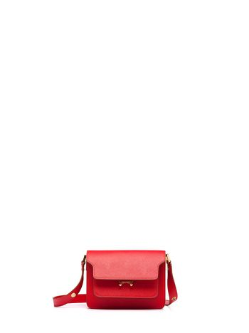 Marni MINI TRUNK bag in Saffiano calfskin Woman