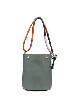 Marni BUCKET bag in green calfskin Woman