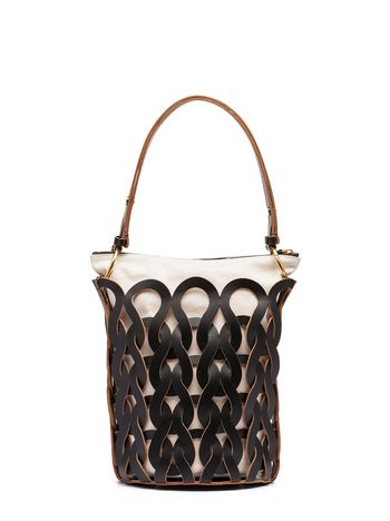 Marni BUCKET TRICOT bag in calfskin Woman