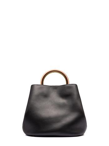 ae7c97e38131 Black calfskin PANNIER bag