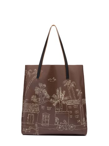 Marni Brown PVC tote bag by Maria Magdalena Suarez Woman