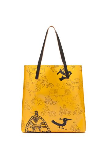 Marni Yellow PVC tote bag by Maria Magdalena Suarez Woman