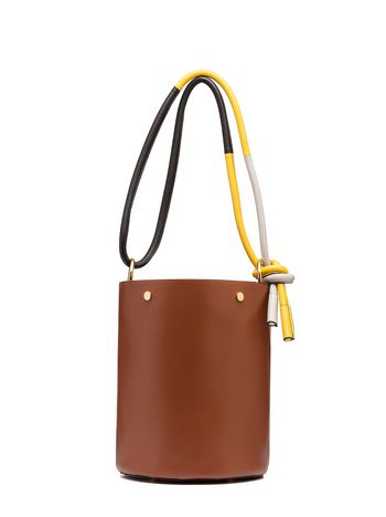 Marni BUCKET bag in brown calfskin Woman