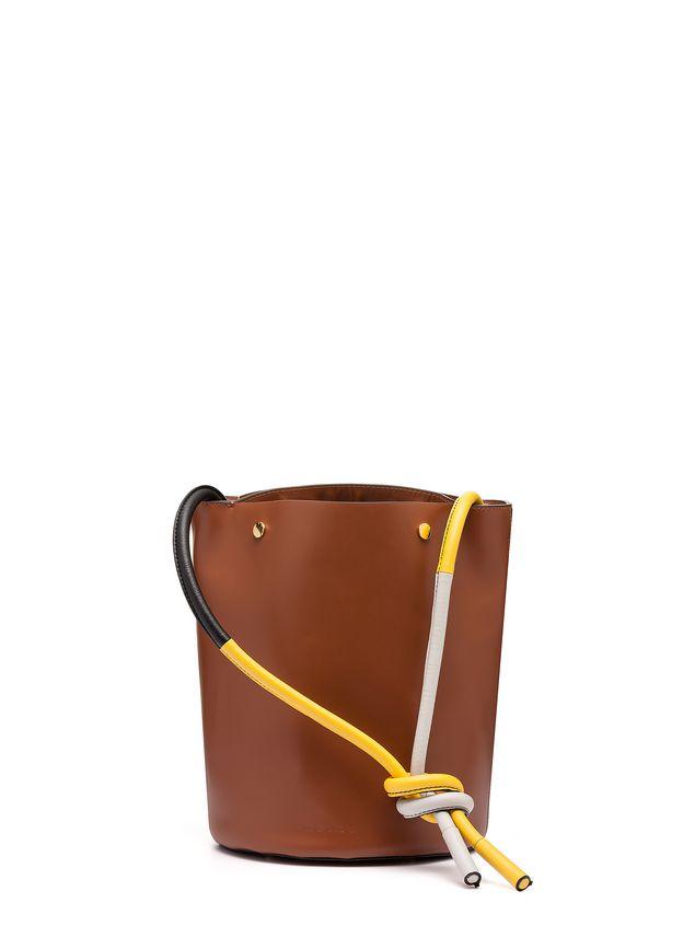 Marni BUCKET bag in brown calfskin Woman