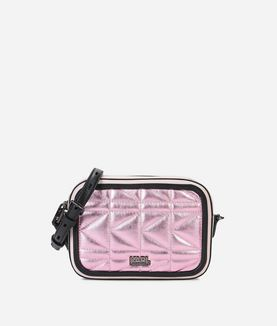 KARL LAGERFELD K/KUILTED PINK CAMERA BAG
