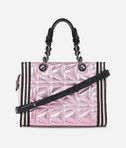 KARL LAGERFELD K/Kuilted Pink Mini Tote 8_d