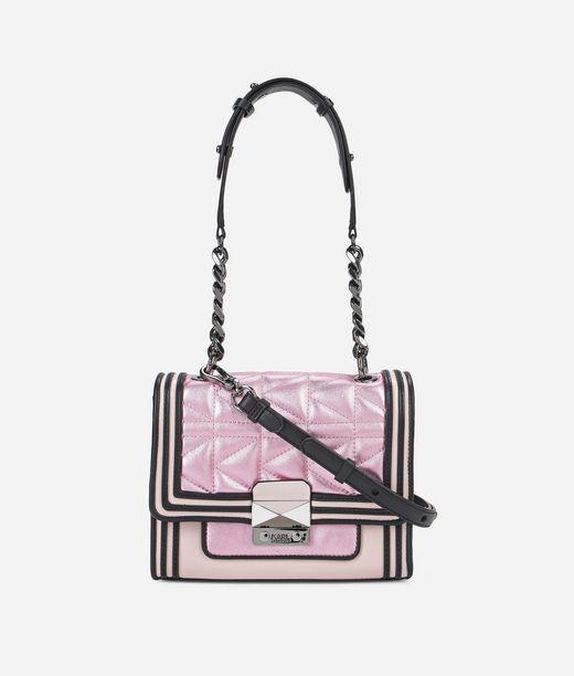 KARL LAGERFELD K/Kuilted Pink Mini Handbag 12_f