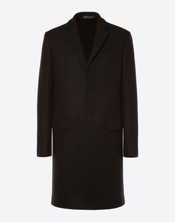 VALENTINO UOMO PEA COAT U Long parka with 'Anywhen' lettering f