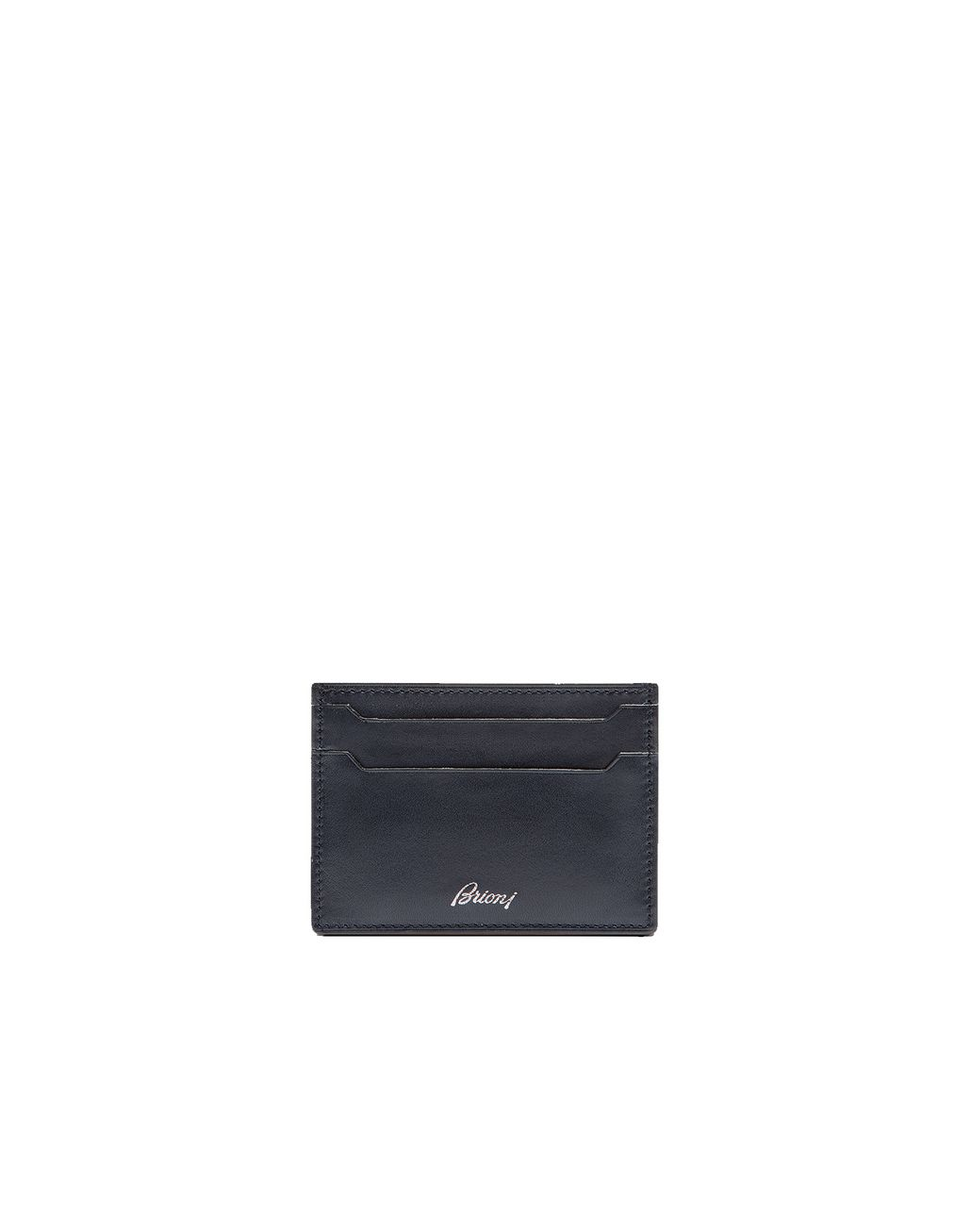 BRIONI Blue Credit Card Holder Leather Goods Man r
