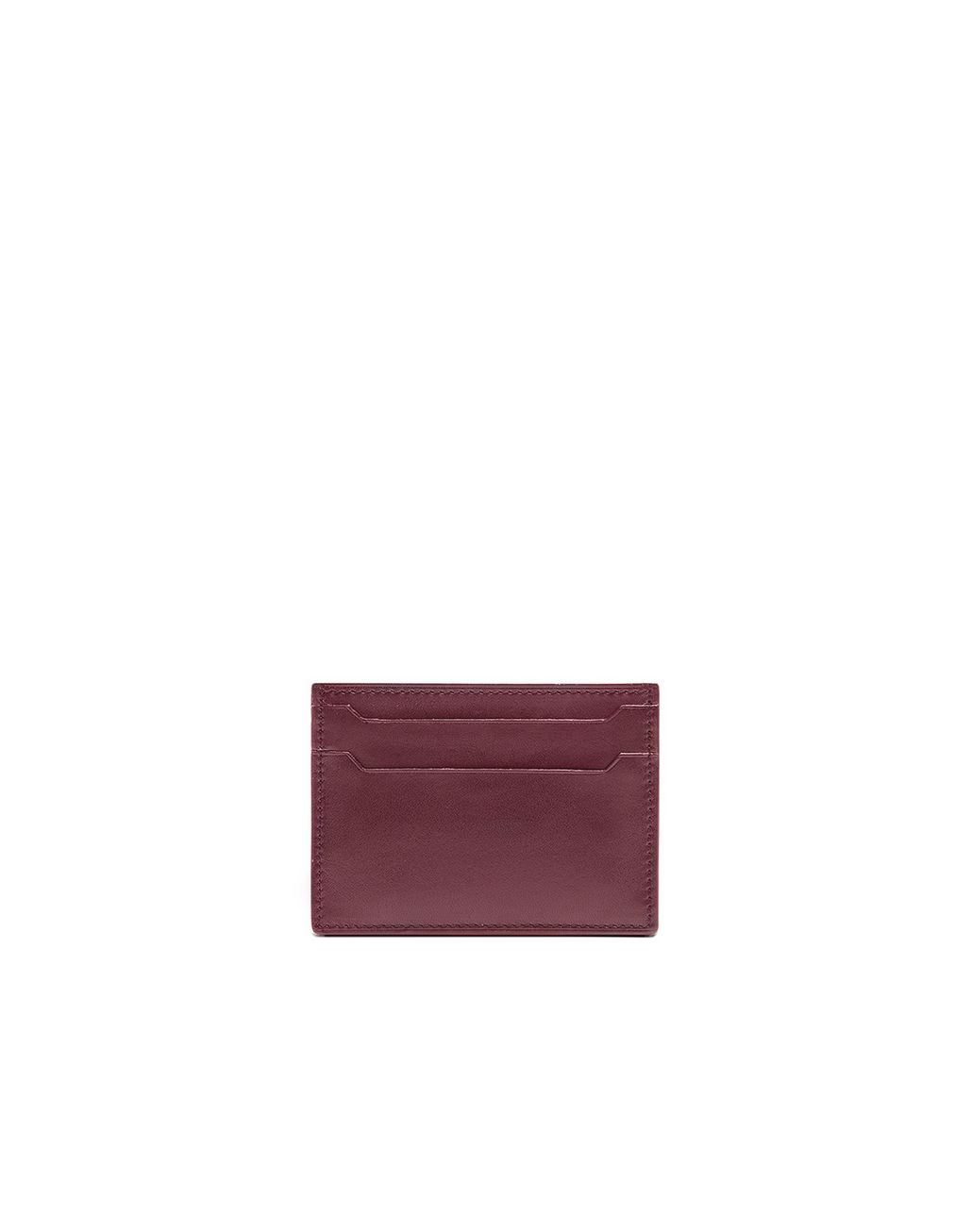 BRIONI Bordeaux Credit Card Holder Leather Goods U f
