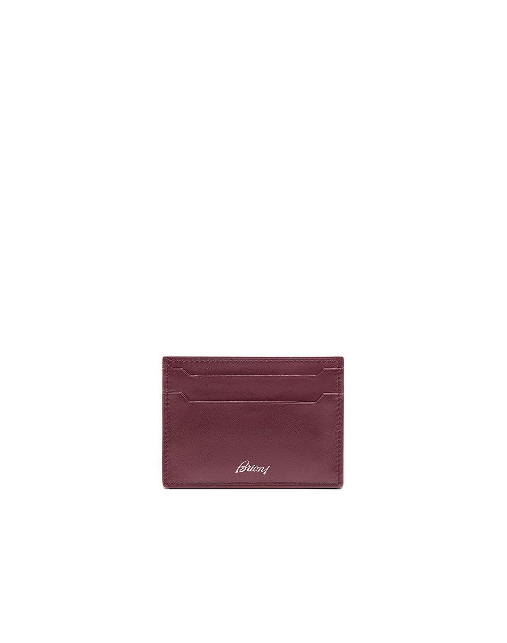 BRIONI Bordeaux Credit Card Holder Leather Goods Man r