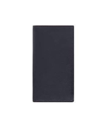 Blue and Black Continental Wallet in Smooth Calfskin
