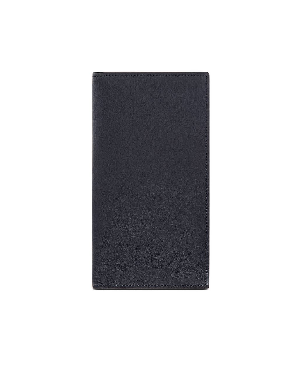 BRIONI Blue and Black Continental Wallet in Smooth Calfskin Leather Goods Man f