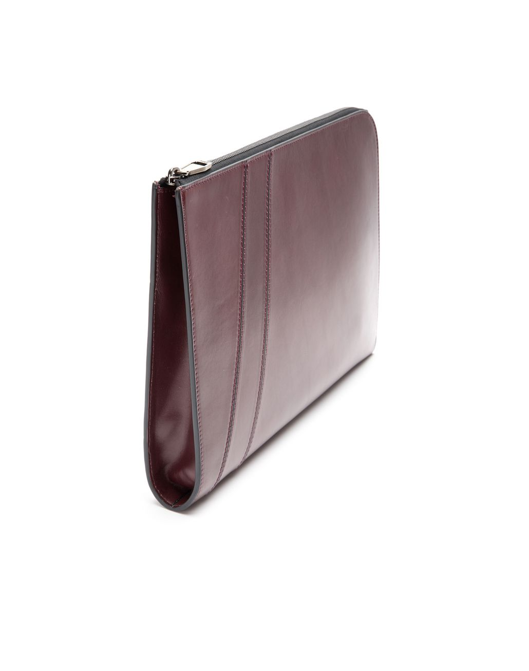 BRIONI Bordeaux Folio Document Holder Leather Goods U d