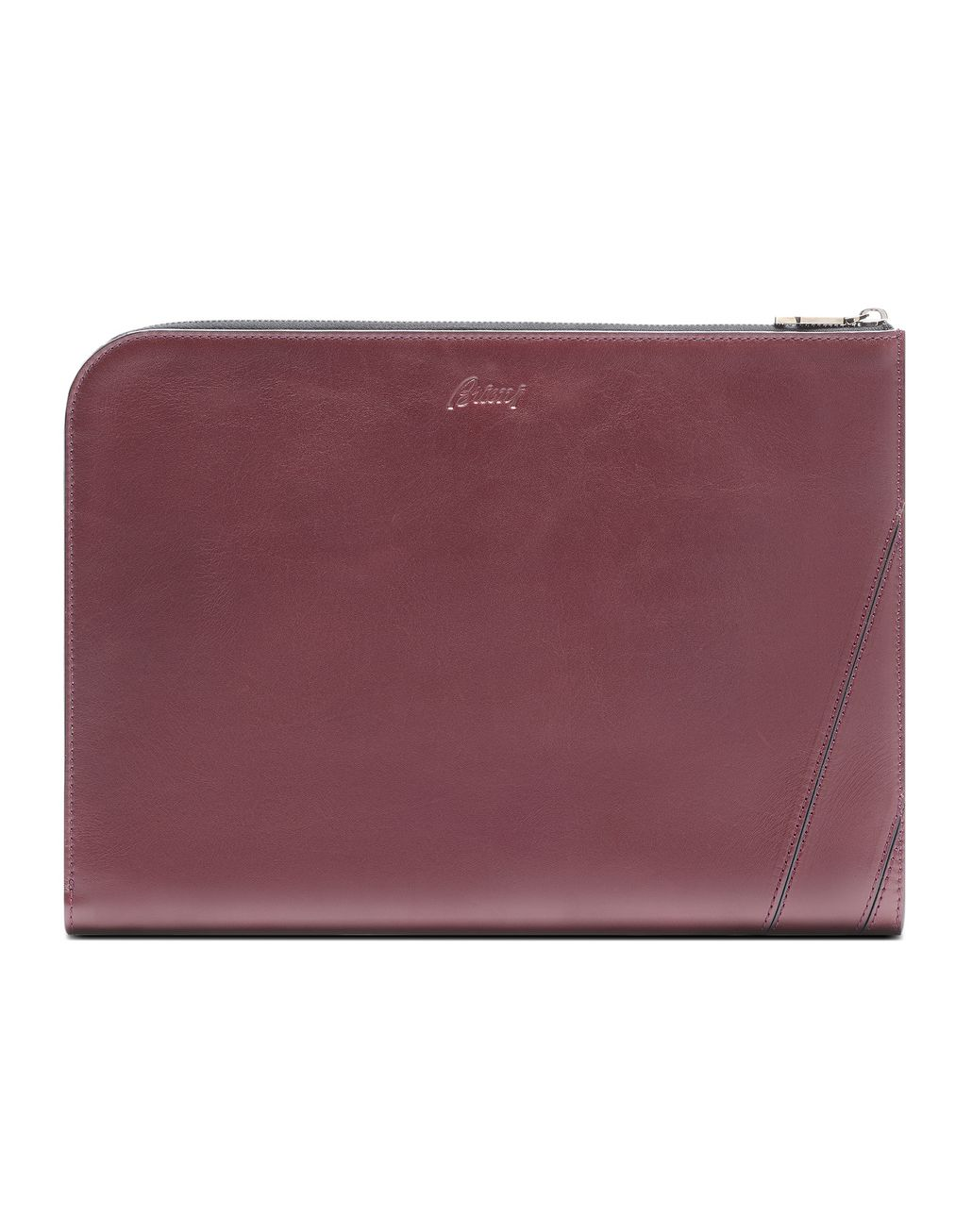BRIONI Bordeaux Folio Document Holder Leather Goods U f