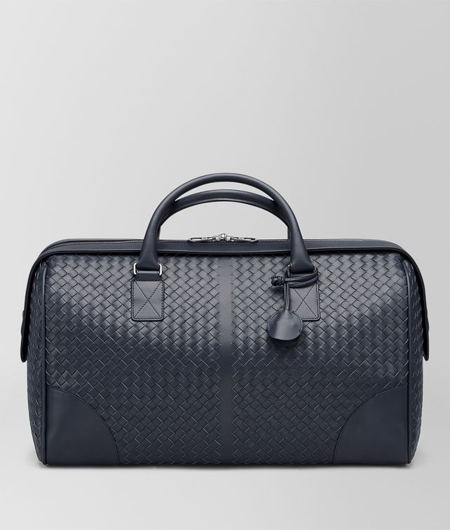 BOTTEGA VENETA MEDIUM DUFFLE BAG IN LIGHT TOURMALINE INTRECCIATO VN  Travel Bags E fp