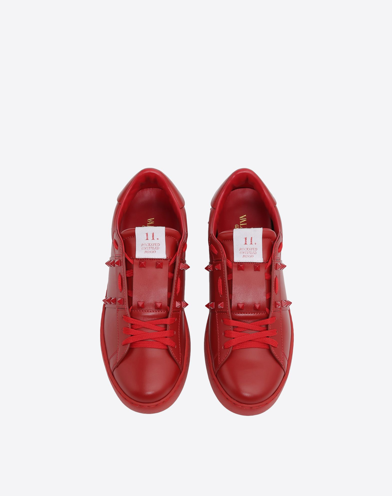 VALENTINO GARAVANI UOMO Sneakers Rockstud Untitled Rosso LOW-TOP SNEAKERS U e