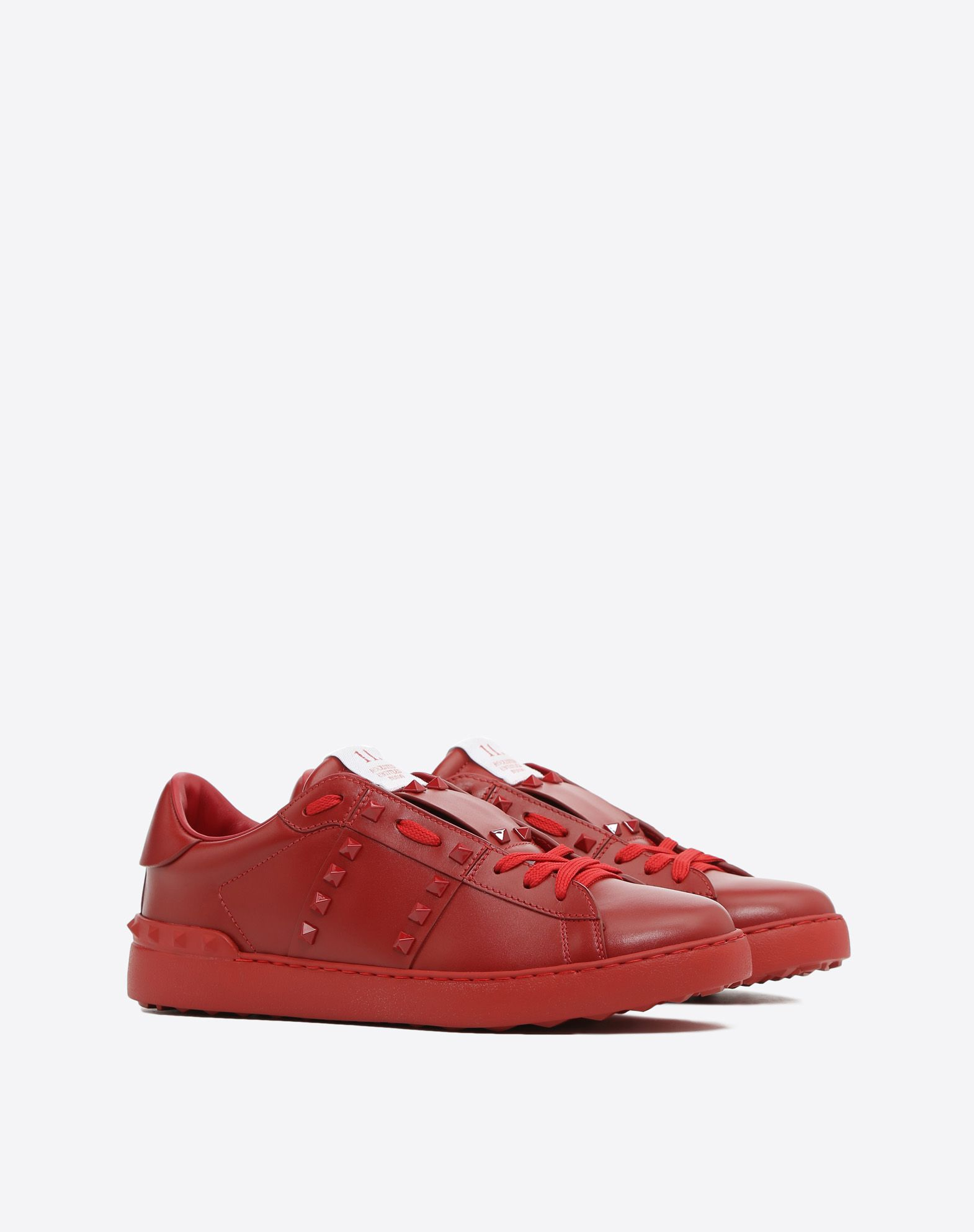 VALENTINO GARAVANI UOMO Sneakers Rockstud Untitled Rosso LOW-TOP SNEAKERS U r