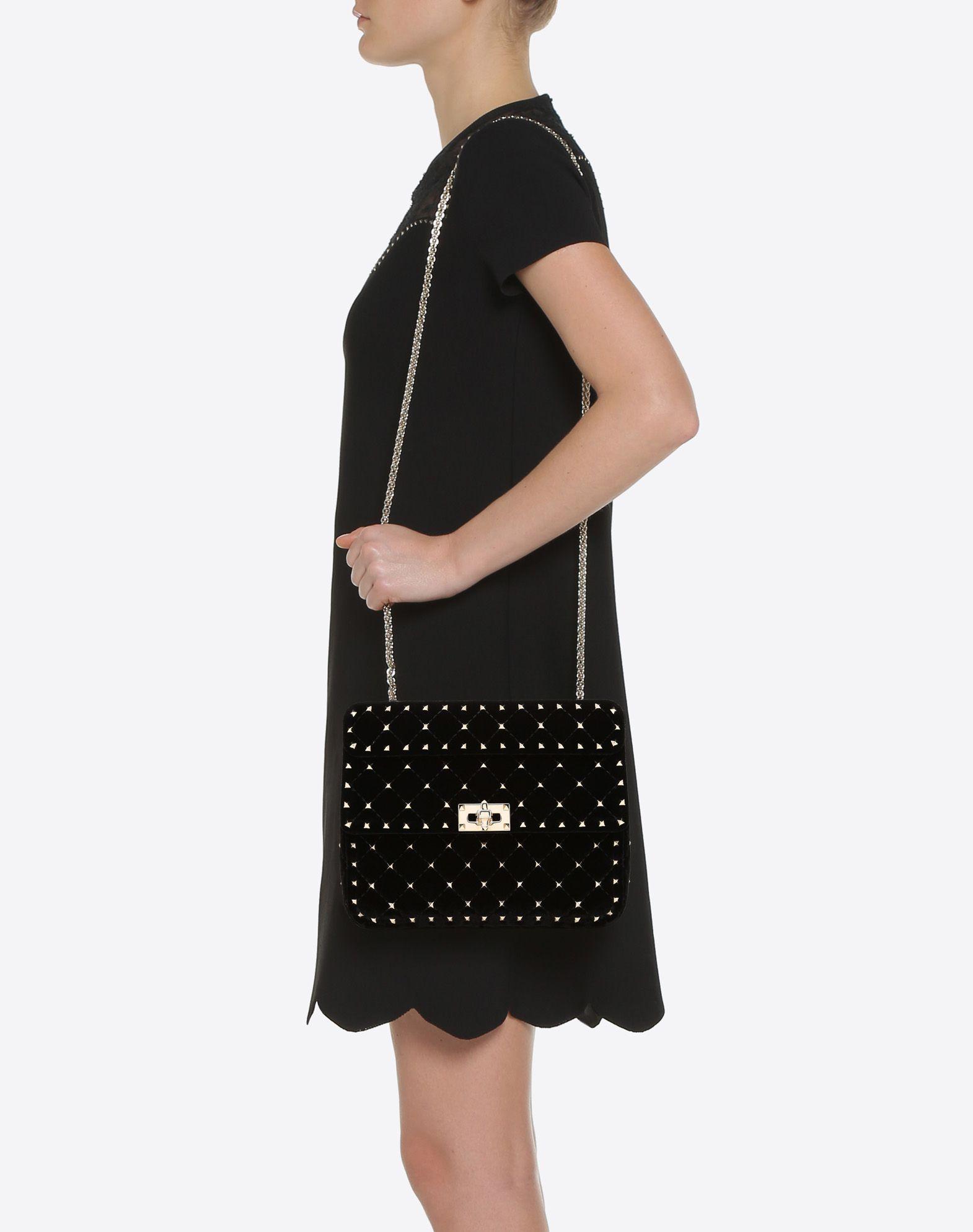 Valentino Rockstud Spike Medium Shoulder Bag zlKJCwD