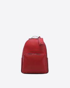 VALENTINO GARAVANI UOMO Backpack U Rockstud Untitled Rosso Backpack f