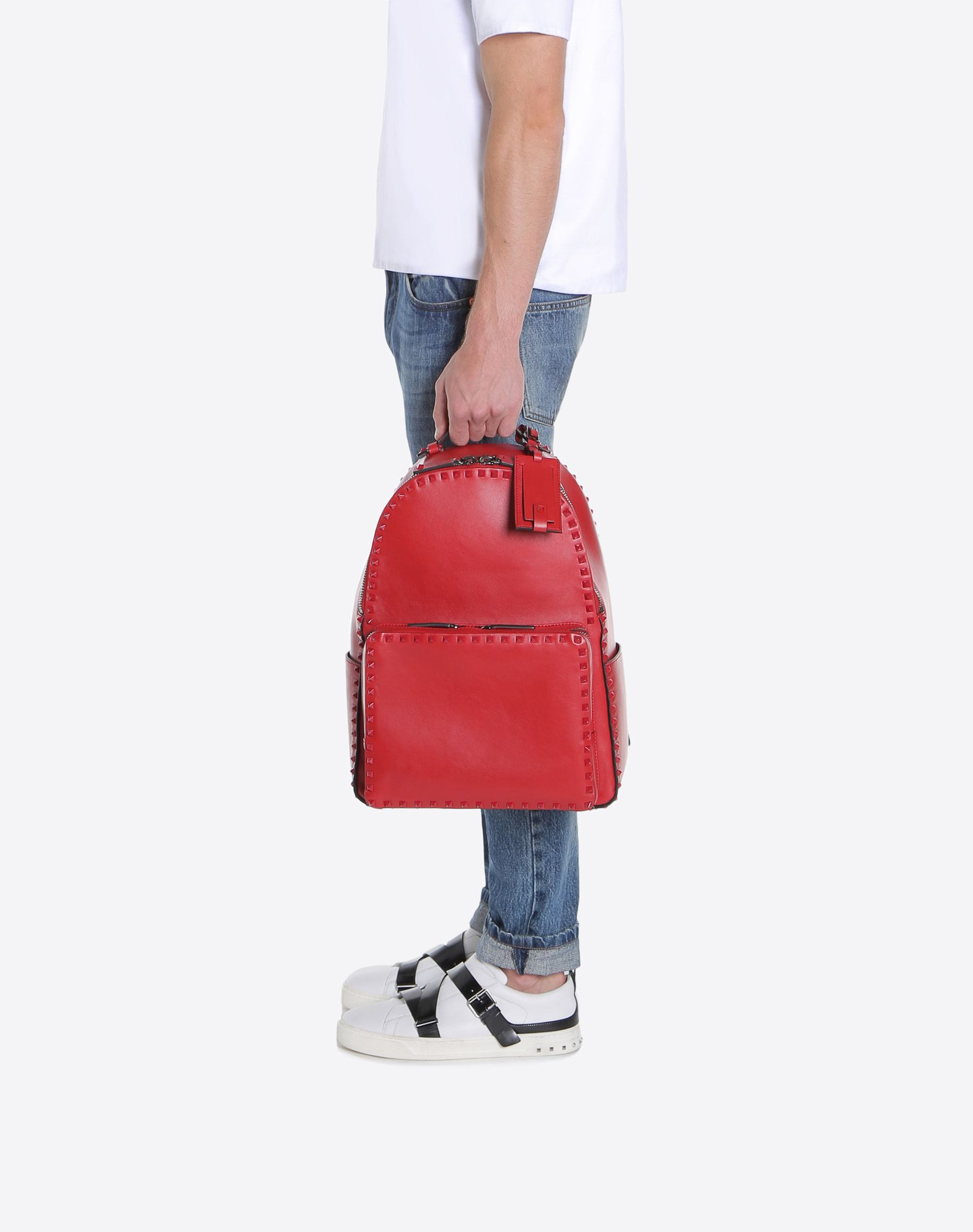 VALENTINO GARAVANI UOMO Rockstud Untitled Rosso Backpack Backpack U a