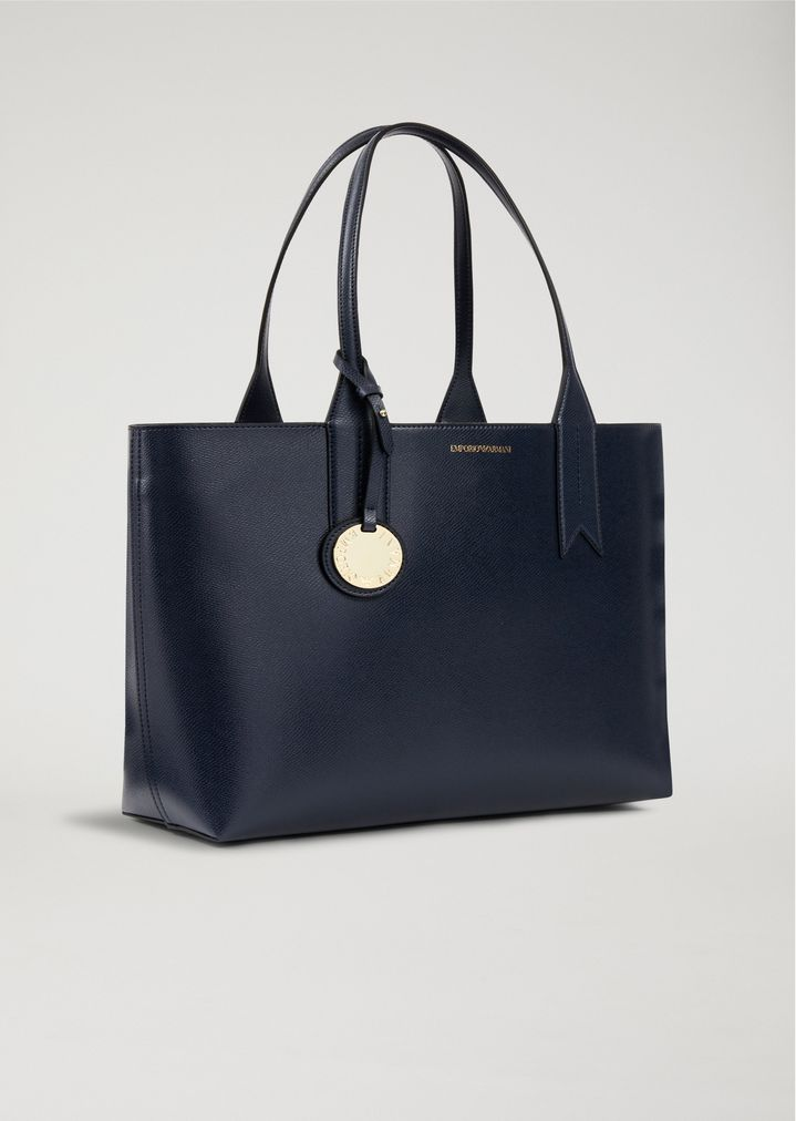 409c31b6dc56 ... Tote bag with logo charm. EMPORIO ARMANI
