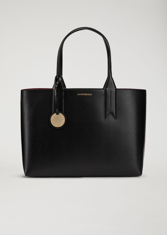 sac main en similicuir portefeuille interne femme emporio armani. Black Bedroom Furniture Sets. Home Design Ideas