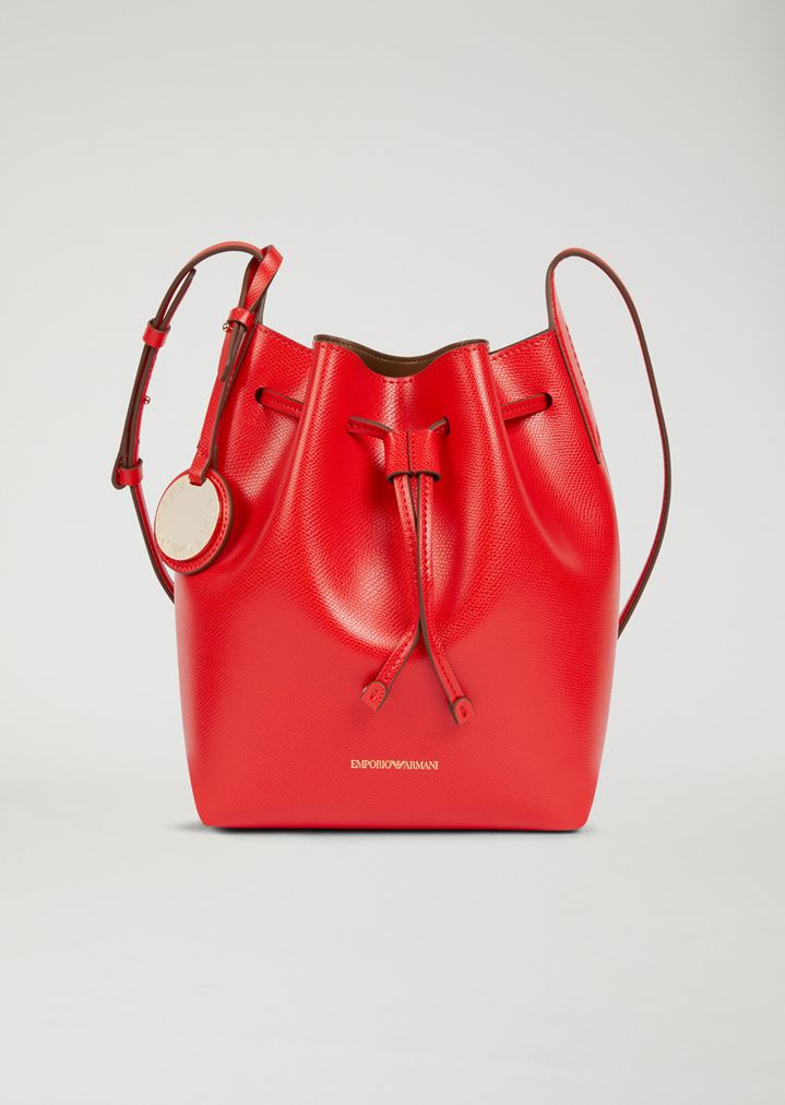 a1a420491bc EMPORIO ARMANI Bucket Bag With Strap And Logo Charm Shoulder Bag Woman f