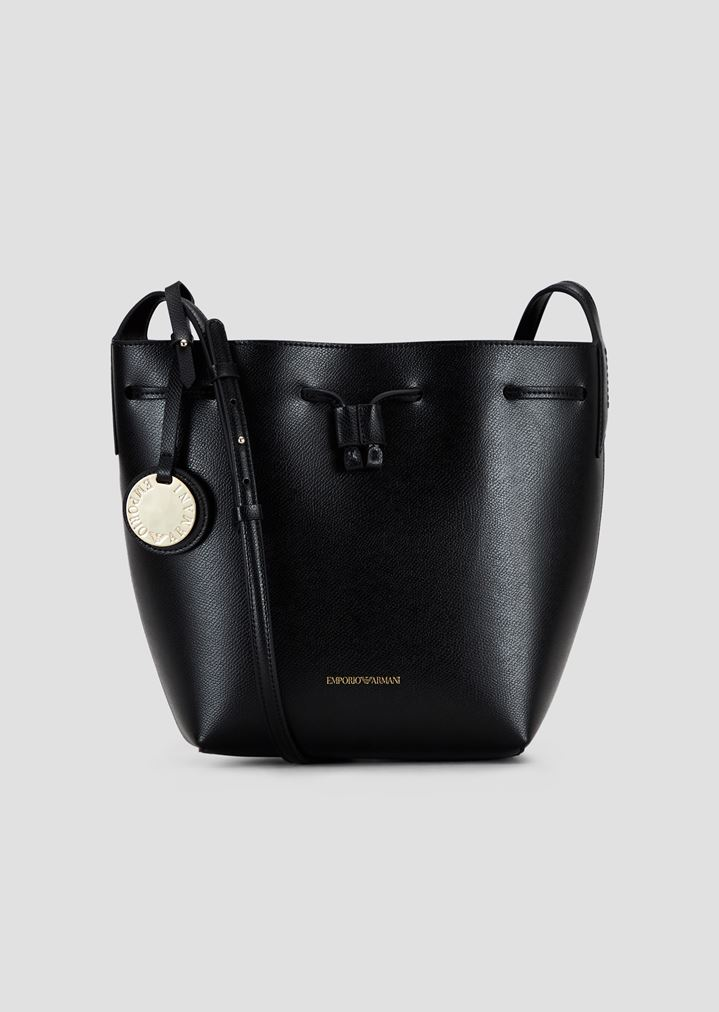 e383083d179 Bucket Bag With Strap And Logo Charm   Woman   Emporio Armani