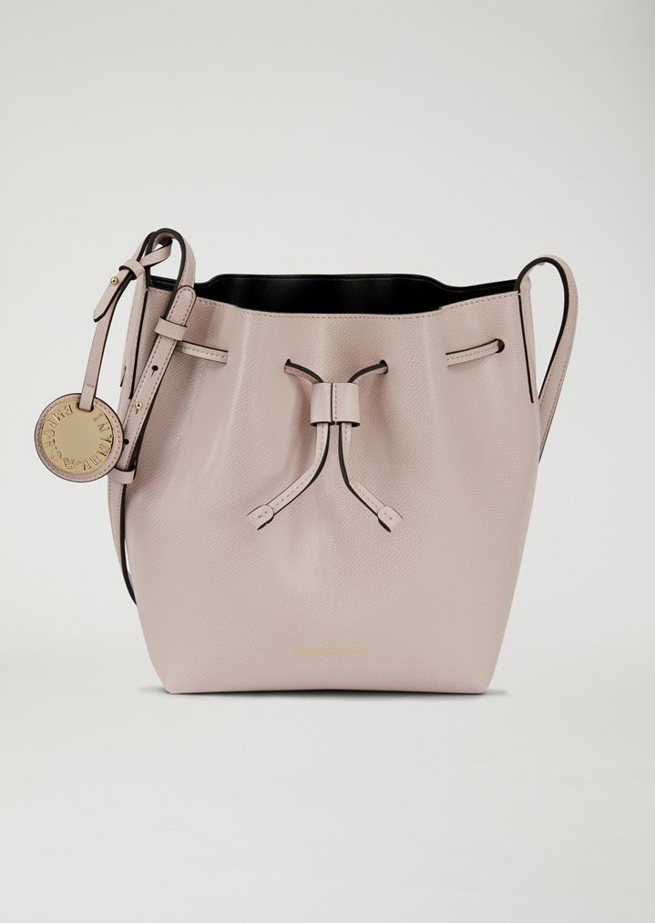 767dd9325ee1 Bucket Bag With Strap And Logo Charm